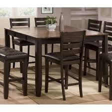 dining room chairs counter height. brown counter height dining table - elliott collection room chairs t