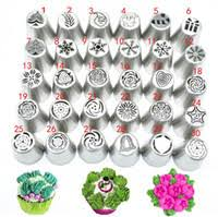 30piece Set Icing Piping Tips Set Christmas Pattern Russian Piping Tips Cake Decorating Supplies Russian Nozzles Pastry Tools