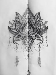 Love This Lotus Mandala Design Tetování Pinterest
