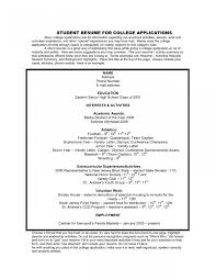 High School Resume Template For College Admissions Fresh How To