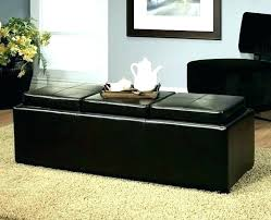leather storage ottoman with trays wonderful tray coffee table . Leather Storage Ottoman With Trays Fantastic 4 Tray Top