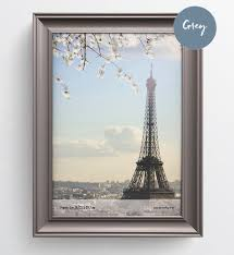 A4 Picture Print Poster Real Wood Berkeley Grey Taupe Shabby Chic Distressed Photo Frame Glass Made In Uk