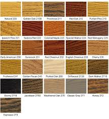 wood floor stain color chart