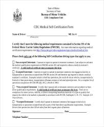 Types Of Medical Certifications Medical Report Forms
