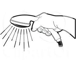 shower head clip art. Handheld Shower Head Clip Low Water Art Holding