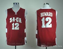 Name Stitched School Ncaa Embroidery Number 12 Jersey Basketball High Saca Jerseys Custom New Mens Dwight Howard And Men Any