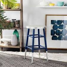 silver dipped counter stool in navy navy blue bar stools s20