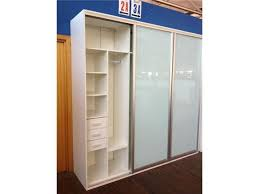 wardrobe with white frosted glass sliding doors model 14ar ws02 freestanding wardrobes colour warm white size w2400 x d600 x h2360mm includes