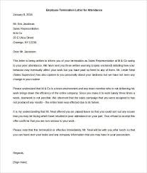 termination letter template employee termination letter template pinterest letter in