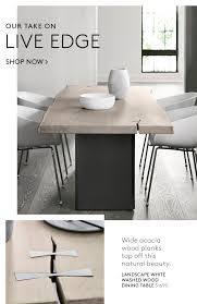 On Trend Mixed Materials Live Edge Cb2 Email Archive