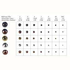 Bead Chart Fly Tying Tungsten Beads
