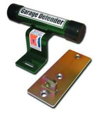 another type of garage security device is the beefy looking garage defender this lock prises of a large arm that sits in front of the up and over garage