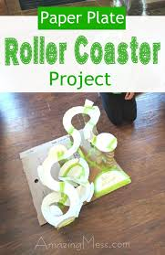paper plate roller coaster project ideas