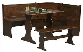 leather breakfast nook furniture. Wow Space Saving Corner Breakfast Nook Furniture Sets A Walnut Finished Leather . B