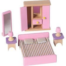 wooden barbie doll furniture. wooden dolls house bedroom furniture barbie doll u