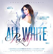 All White Flyer Template White Party Free Flyer Template