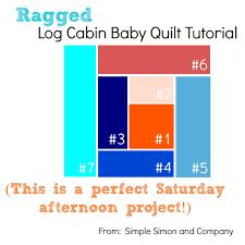 Ragged Log Cabin Baby Quilt Tutorial - Simple Simon and Company & Log Cabin Baby Quilt Tutorial Titile Adamdwight.com