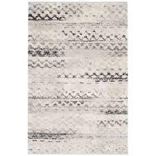 safavieh retro cream grey 4 ft x 6 ft area rug