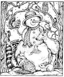 Small Picture Northwoods Rubber Stamps Wood Mounted Snowman and Forest