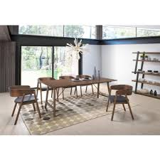 modern dining room tables and chairs. Fine Room Modrest Oritz MidCentury Modern Walnut Dining Set On Room Tables And Chairs L
