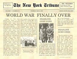 Vintage Newspaper Template Free Old Newspaper Template With Advertisement Bestuniversities Info