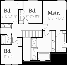 upper floor plan for 10009wd traditional house plans two story house plans 4 bedroom