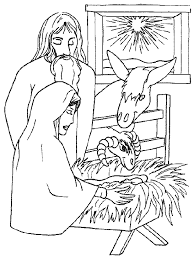 Kleurplaat Jezus En De Herders In De Stal Kleurplaten En Zo
