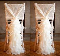 chair covers. 2018 romantic ruffled wedding chair sashes chiffon flowy ruffle chiavari covers hood party event accessories
