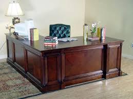 Image of: L Shaped Executive Desk Design