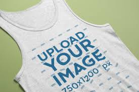Tank Top Mockup Placeit Heather Tank Top Mockup On A Flat Surface