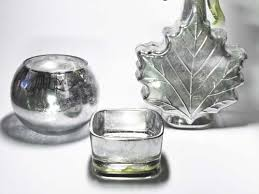 faux mercury glass that gleams like the real thing