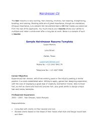 Resume Templates Hair Stylist Objective Examples Objectives Example