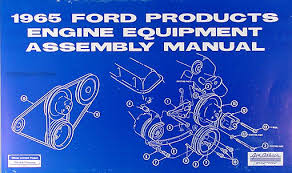 1965 ford mercury 289 v8 engine assembly manual reprint