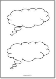 Word Bubble Templates 2 Blank Thought Bubbles Free Printables Free Printable