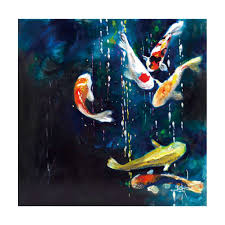 50x50cm frameless goldfish oil canvas painting living room wall art decor us 6 84 ping newfrog com