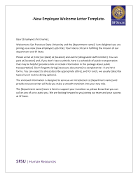 9 New Hire Welcome Letter Examples Pdf With Letter From Human