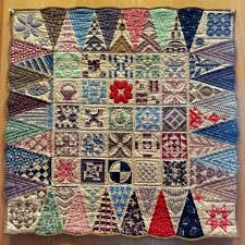 251 best Jane A. Stickle Quilt & Quilts it Inspired images on ... & Tiny Dear Jane quilt: each triangle is about 2