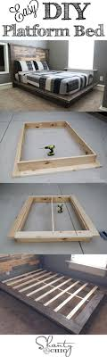 Build A Bear Bedroom Furniture Easy Diy Platform Bed Diy Platform Bed Furniture And Home