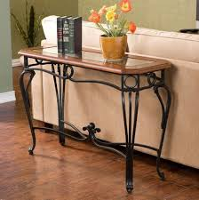 wrought iron and wood furniture. Furniture:Wrought Iron Sofa Table Wood Tables With Top Legs Base And Slate Antique Console Wrought Furniture S
