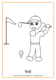 Small Picture Golf Colouring Page