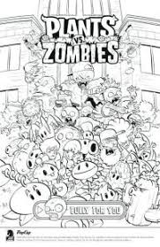 Piante Contro Zombi Disegni Da Colorare Plants Vs Zombies