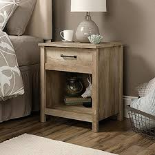 Great SAUDER Cannery Bridge Collection 1 Drawer Night Stand In Lintel Oak    416868   The