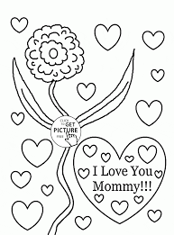 I Love You Mommy Mothers Day Coloring Page For Kids Coloring