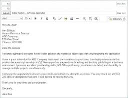 Email Example For Sending Resumes Send A Resume By Email How To Sample Sending Resumes
