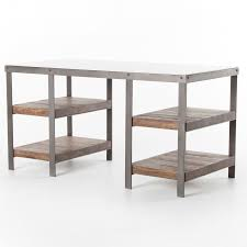 top office desks. Elliot Industrial Iron + White Marble Top Office Desk Desks