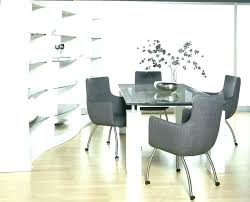 dining chairs with wheels dining room table chairs casters photo design