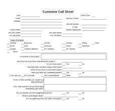 Customer Call Sheet Template Construction Project Information Sheet Template Customer Sheet