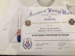 bremen hs s ostrowsky d voice of democracy essay contest bremen hs s ostrowsky d 2017 voice of democracy essay contest winner