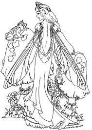 Free Printable Coloring Pages Fairies Adults Beautiful Image Detail