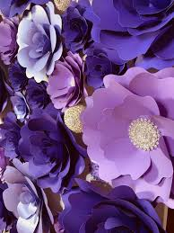 Paper Flower Backdrop Rental Purple Paper Flower Wall Backdrop 70 Click On The Picture